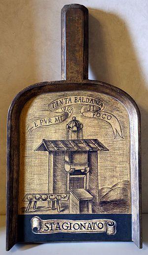 Jacopo Mazzoni - The shovel of Jacopo Mazzoni (Stagionato) at Accademia della Crusca