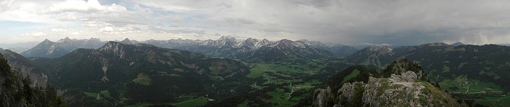 Panorama of Sorgschrofen's surroundings