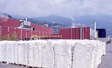 Uno stabilimento cartario. Foto di Paolo Monti, 1980