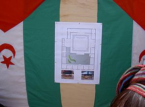 Sahrawi National Council - 2005 drawing plan of the future building of the Sahrawi National Council in Tifariti, Liberated Territories.