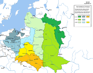 Third Partition of Poland - Image: Partitions of Poland
