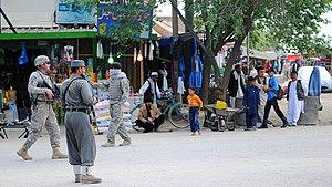 Charikar - A street in Charikar