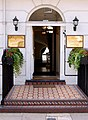 Patterned encaustic tiles and doorway, Gloucester Place, Marylebone - geograph.org.uk - 1407622.jpg