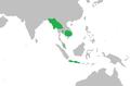 Pavo muticus range map.png
