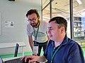 Paweł Marynowski and Martin Poulter Wikimedia Hackathon 2019.jpg