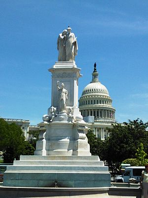 Franklin Simmons - Peace Monument (marble, 1877), United States Capitol, Washington, D.C.