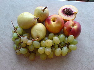 Peach, grape and pears.JPG
