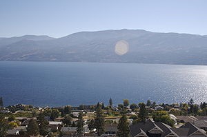Okanagan Lake with Peachland in the foreground...