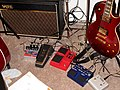 Pedals of OctopusHat - Vox amp & pedals, EH English Muff'n, DigiTech Whammy & JamMan, Epiphone Ltd Les Paul Standard.jpg