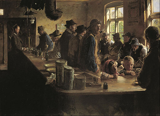 Peder Severin Krøyer - A the victualler's when there is no fishing - Google Art Project