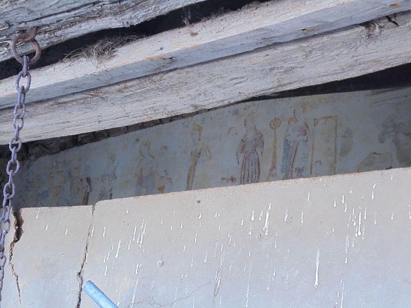 Les peintures murales de l'ancienne église Saint-Maximin, partie de la ferme abbatiale Saint-Laurent. Peinture réalisées vers 1520-1530.
