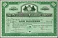 Stock certificate of Pennsylvania Railroad
