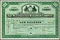 Certificat d'actions de Pennsylvania Railroad