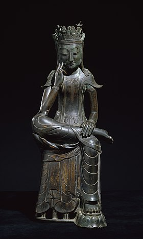 Gilt-bronze Maitreya in Meditation