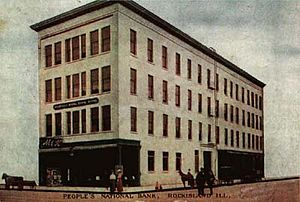 Peoples National Bank Building-Fries Building - People's National Bank c. 1906