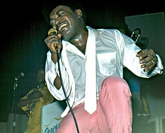 Percy Sledge - Sledge performing on tour in 1974
