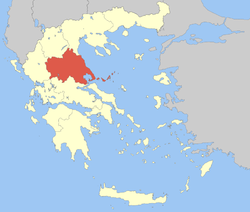 Location of Thessaly