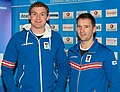 Peter Penz Georg Fischler - Team Austria Winter Olympics 2014.jpg