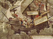 Il filosofo Pirrone sul mare in tempesta, del Petrarcameister[1].