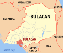 Map of Bulacan