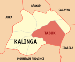Map of Kalinga with Tabuk highlighted