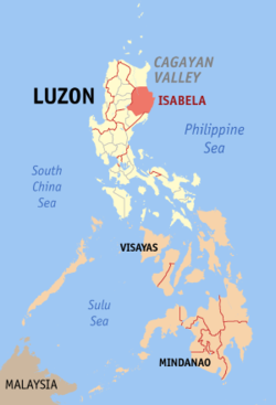 Map of the Philippines with Isabela highlighted