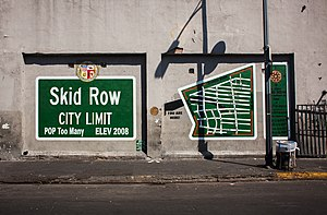 Skid Row, Los Angeles - The Skid Row City Limits Mural