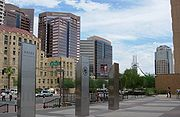 Downtown Phoenix south of Jefferson Street