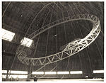 Photograph Rising the First Main Frame of a Dirigible, ca. 1933 (7951497274).jpg