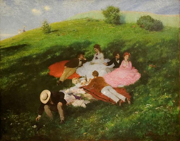 """""""Pique nique en mai"""" de Pál Szinyei Merse"""