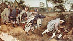 Pieter Bruegel den Eeleren: Der Blindensturz