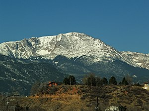 Pike's Peak in Colorado, USA.