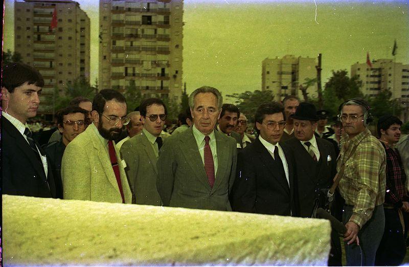 ביקור שמעון פרס בלוד