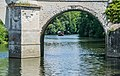 Pillars of the Castle of Chenonceau on the Cher river.jpg