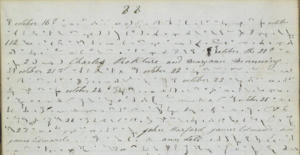 Pitman shorthand - A selection of a journal by George Halliday 1845-1854. The Mormon pioneer wrote in Pitman shorthand. Transcription in image description.
