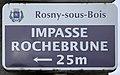 Plaque Impasse Rochebrune - Rosny-sous-Bois (FR93) - 2021-04-16 - 1.jpg