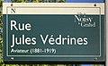 Plaque Rue Jules Védrines - Noisy-le-Grand (FR93) - 2021-04-24 - 1.jpg