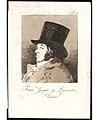 Plate 1 from 'Los Caprichos'- Self-portrait of Goya ( Franco. Goya e Lucientes, Pintor) MET 22AA BG02R6M.jpg
