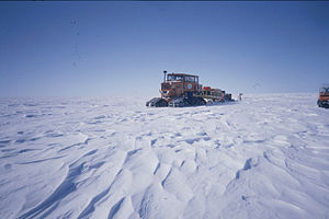 Antarctic Plateau - Surface of Antarctic Plateau, at 150E, 77S