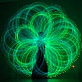 Poi (performance art) - Glow poi flowers