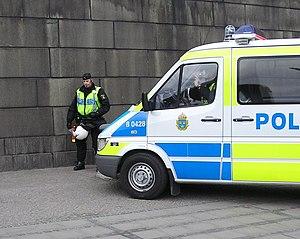 Swedish police and police car.
