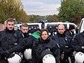Police in front of a motorway junction at Ende Gelände 28-10-2018 01.jpg