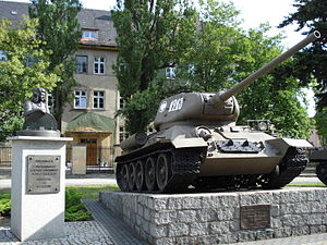 1st Armoured Corps (Poland) - Monument to the 1st Armoured Corps in Zagan, Poland.