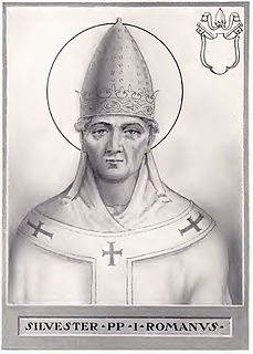 Pope Sylvester I 33rd pope and saint (reigned 314–335)