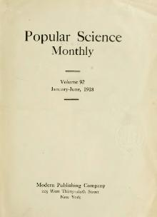 Popular Science Monthly Volume 92.djvu