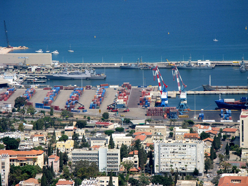 File:Port Haifa from Carmel.jpg