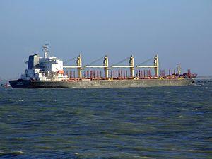 Port Victoria - IMO 9262637 - Callsign V7NZ3 approaching Port of Rotterdam, Holland 14-Jan-2007 photo-3.jpg