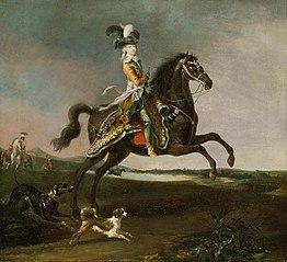Marie-Antoinette, reine de France à cheval