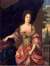 Description de l'image Portrait of Mademoiselle de Montmorency (1678–1718) future Duchess of Vendome (Copy of an original in the Château d'Eu).jpg.