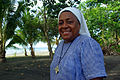 Portrait of Sister Doreen Awaiasi, Coordinator of the Christian Care Centre. Standing outside the CCC. (10714302674).jpg